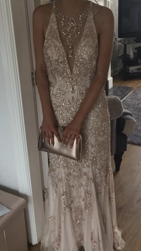 Mori Lee Rose Gold Prom Dress Prom Uk